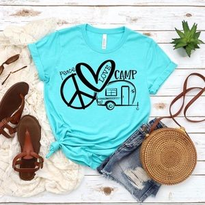 T-shirt, graphic tee, camping